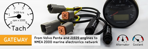Engine Gateway - Compatible with NMEA 2000 (DeviceNet) Micro Male - 2 Dogs Marine