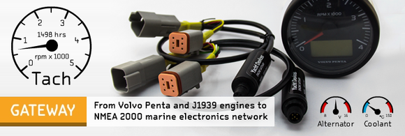 Engine Gateway YDEG-04 - Compatible with NMEA 2000 (DeviceNet) Micro Male - 2 Dogs Marine