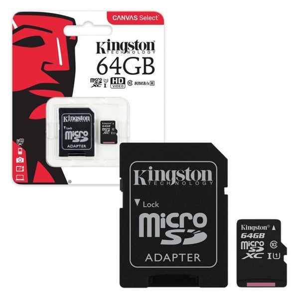 KINGSTON MICRO SD CL10 64GB (SDCS)