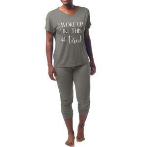 Bamboo Jogger Pajama - I Woke Up Like This