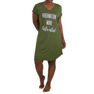 Hibernation Mode Bamboo Nightshirt