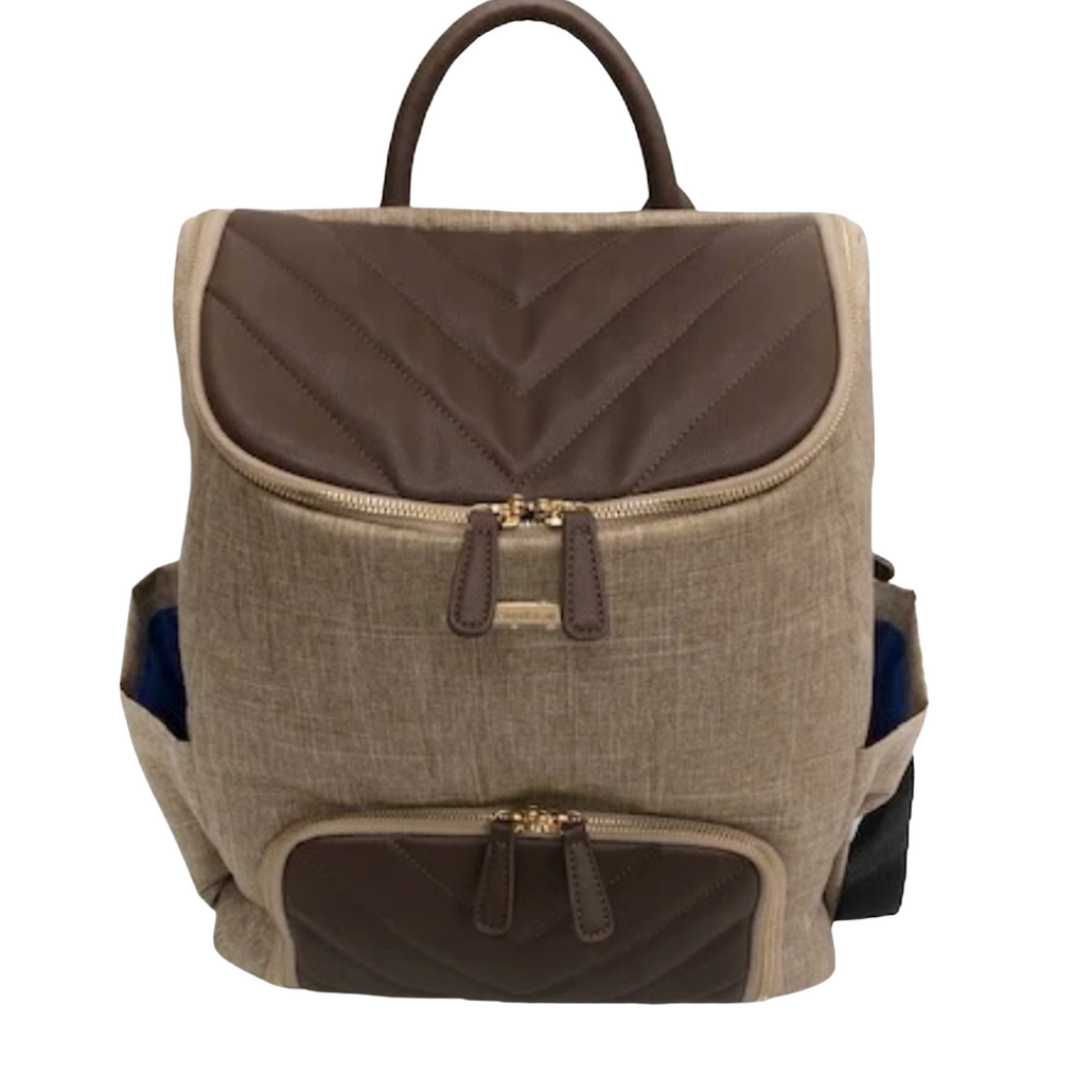 Mother's Day Getaway Bag - Tan/Brown Oxford