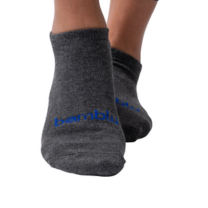 Men's Bamboo Ankle Socks - Gray/Blue