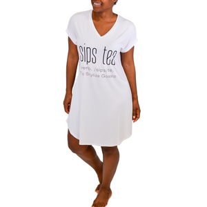 Sips Tea Bamboo Nightshirt