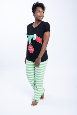 Holiday Pajama Set - Black