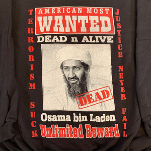 "Vintage Osama bin Laden ""Wanted"" Crewneck Sweatshirt"