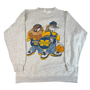 "Vintage Michigan ""Looney Tunes"" Crewneck Sweatshirt"