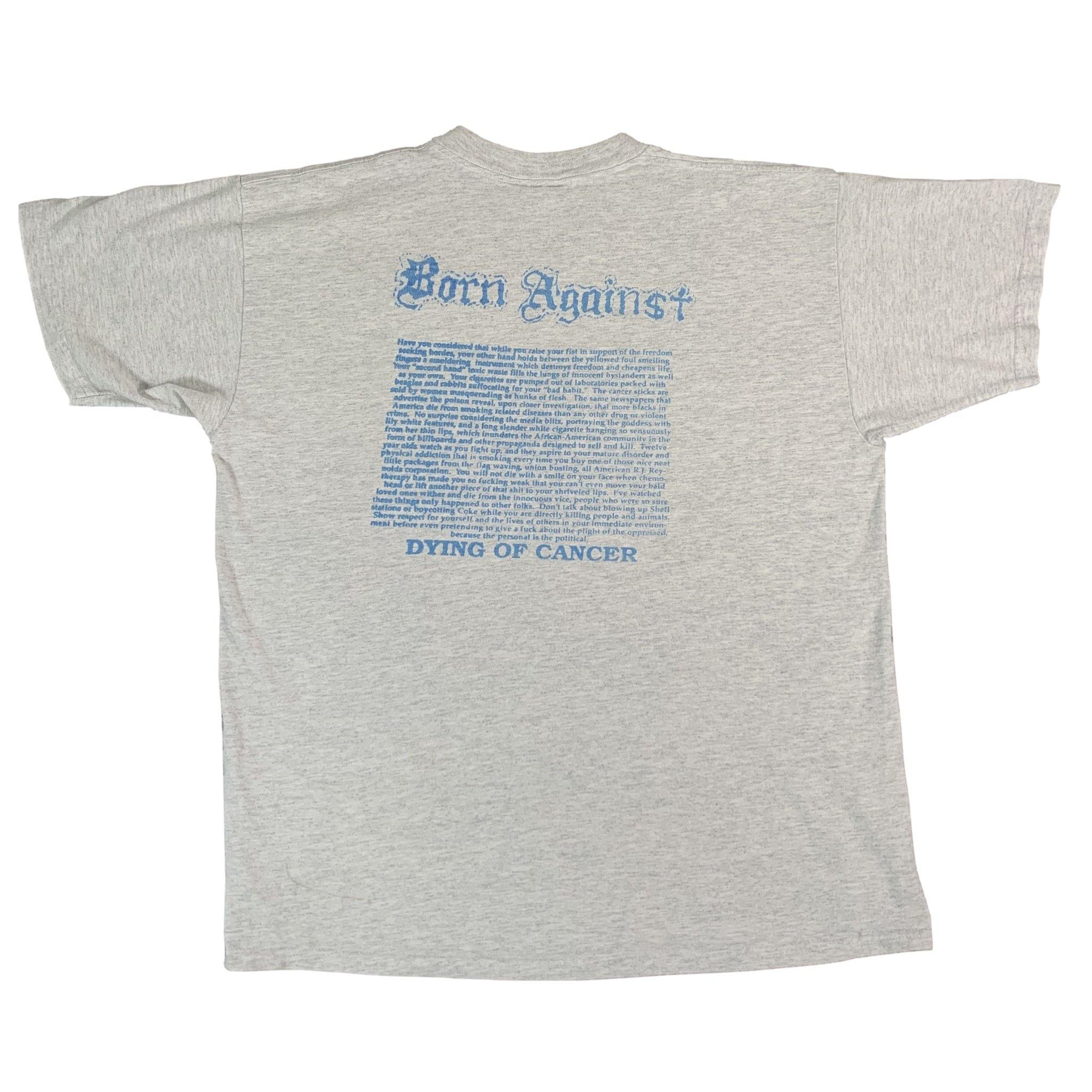 "Vintage Born Against ""Dying Of Cancer"" Pocket T-Shirt"