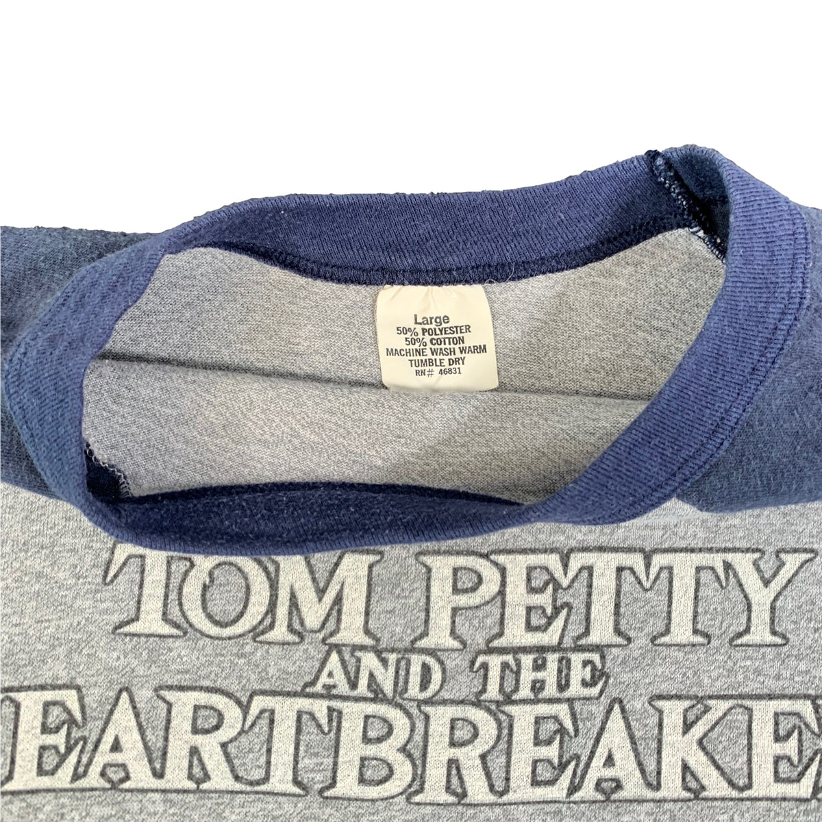"Vintage Tom Petty And The Heartbreakers ""Hard Promises"" Raglan"
