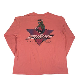 "Vintage Sims USA ""Snowboards"" Long Sleeve Shirt"