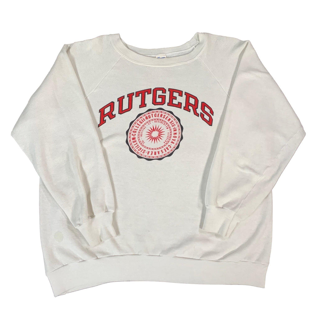 "Vintage Champion Rutgers University ""Seal"" Crewneck Sweatshirt"
