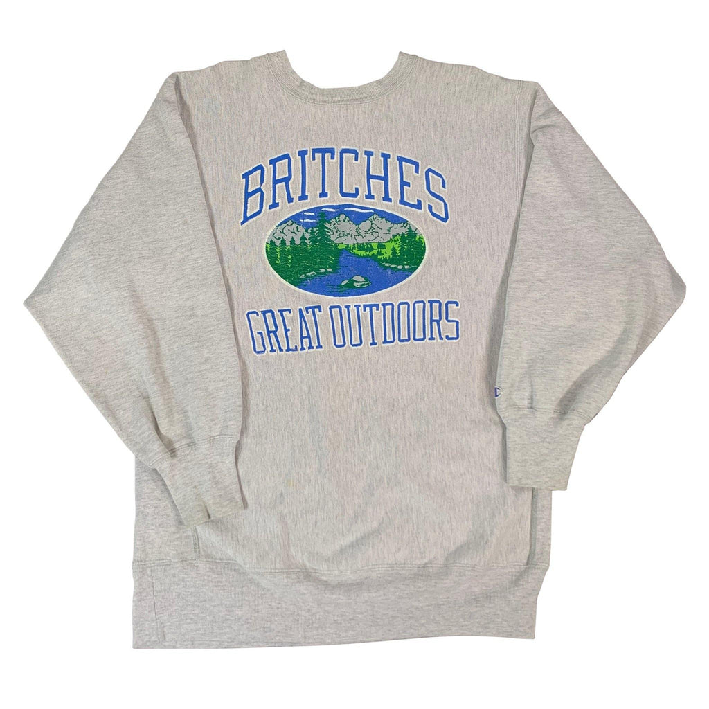 "Vintage Champion Reverse Weave ""Britches Great Outdoors"" Crewneck Sweatshirt"