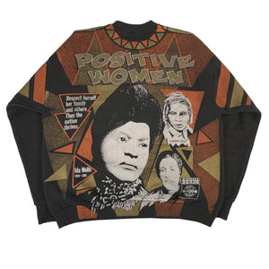 "Vintage Positive Woman ""Positive People"" Crewneck Sweatshirt"
