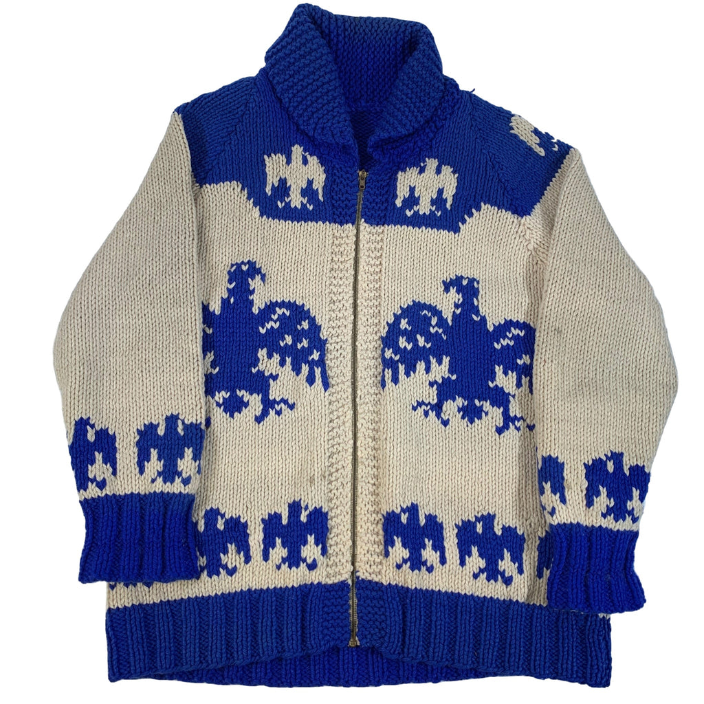 "Vintage Hand Knit Cowichan ""Eagle"" Sweater"