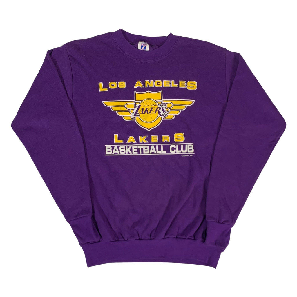"Vintage Los Angeles Lakers ""Basketball Club"" Crewneck Sweatshirt"