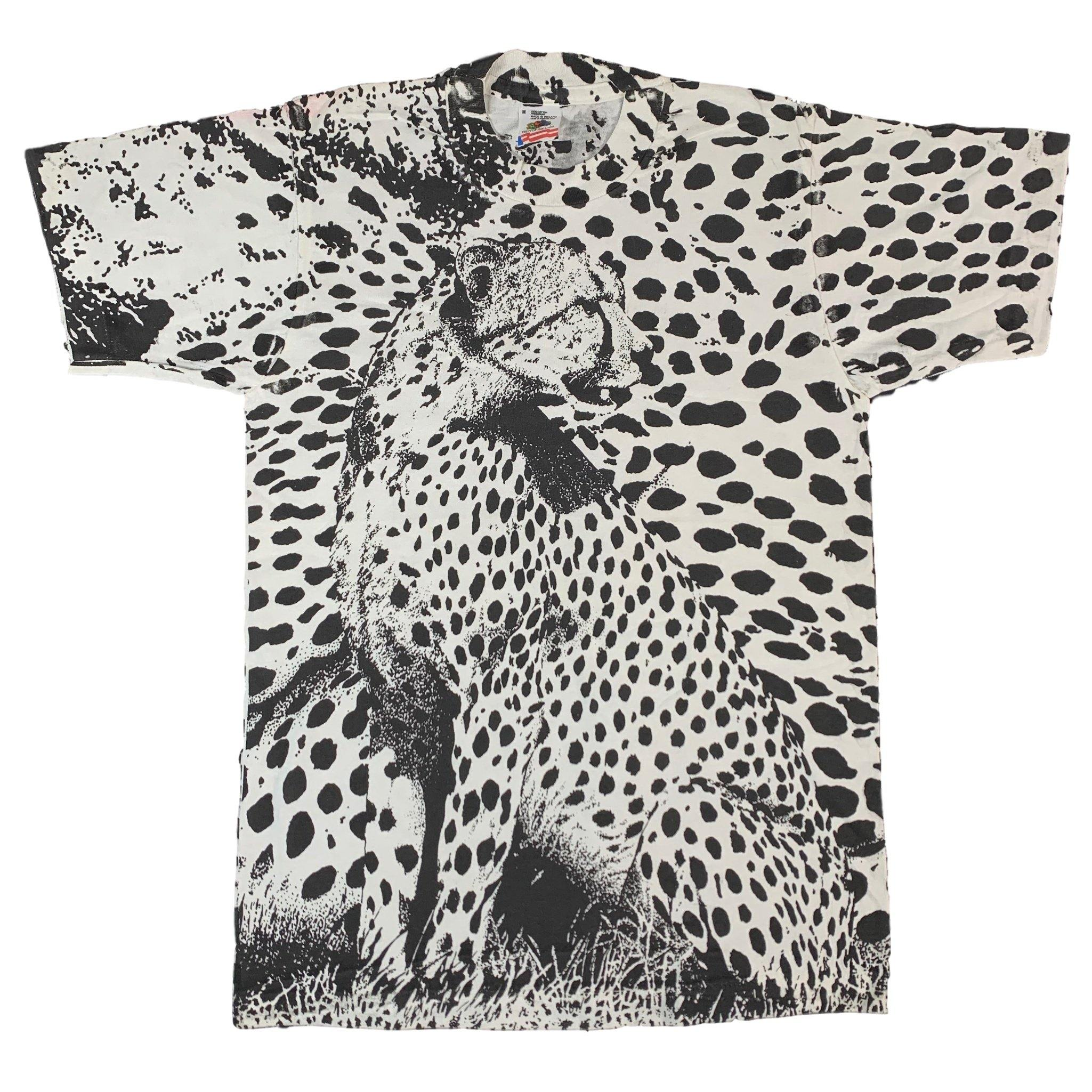 "Vintage Cheetah ""All Over"" Print T-Shirt"
