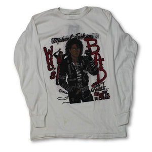 "Vintage Michael Jackson ""Who's Bad?"" Longsleeve T-Shirt"