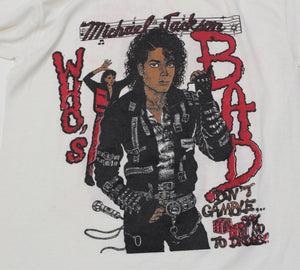 "Vintage Michael Jackson ""Who's Bad?"" Longsleeve T-Shirt - jointcustodydc"