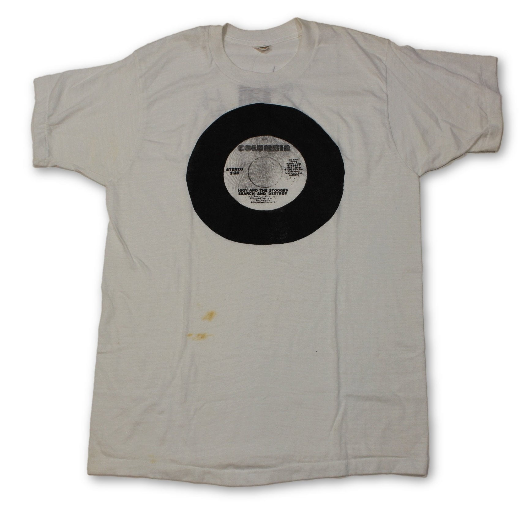 "Vintage Iggy & The Stooges ""Columbia Records"" T-Shirt - jointcustodydc"