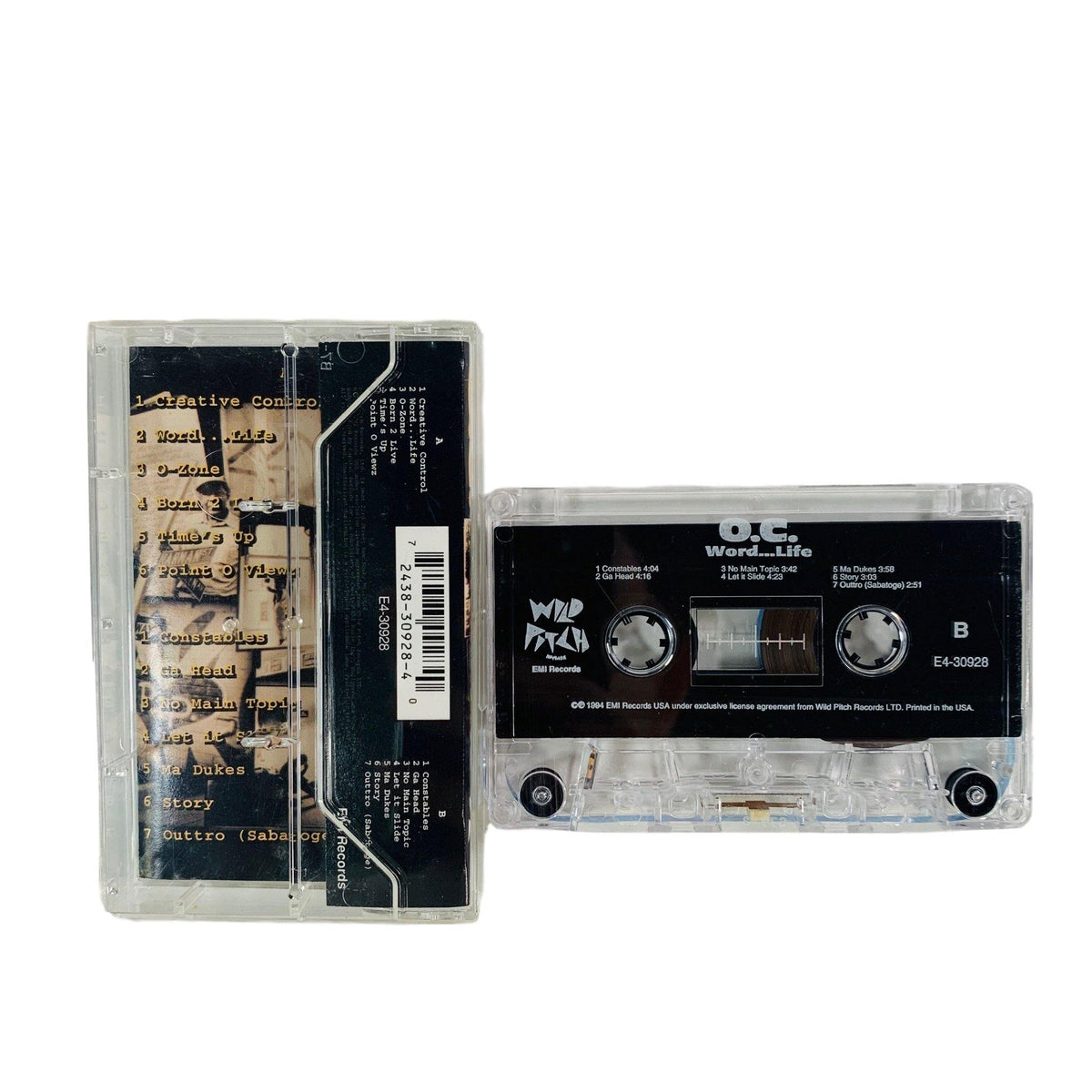 "Vintage O.C. ""Word... Life"" Wild Pitch Records Tape - jointcustodydc"