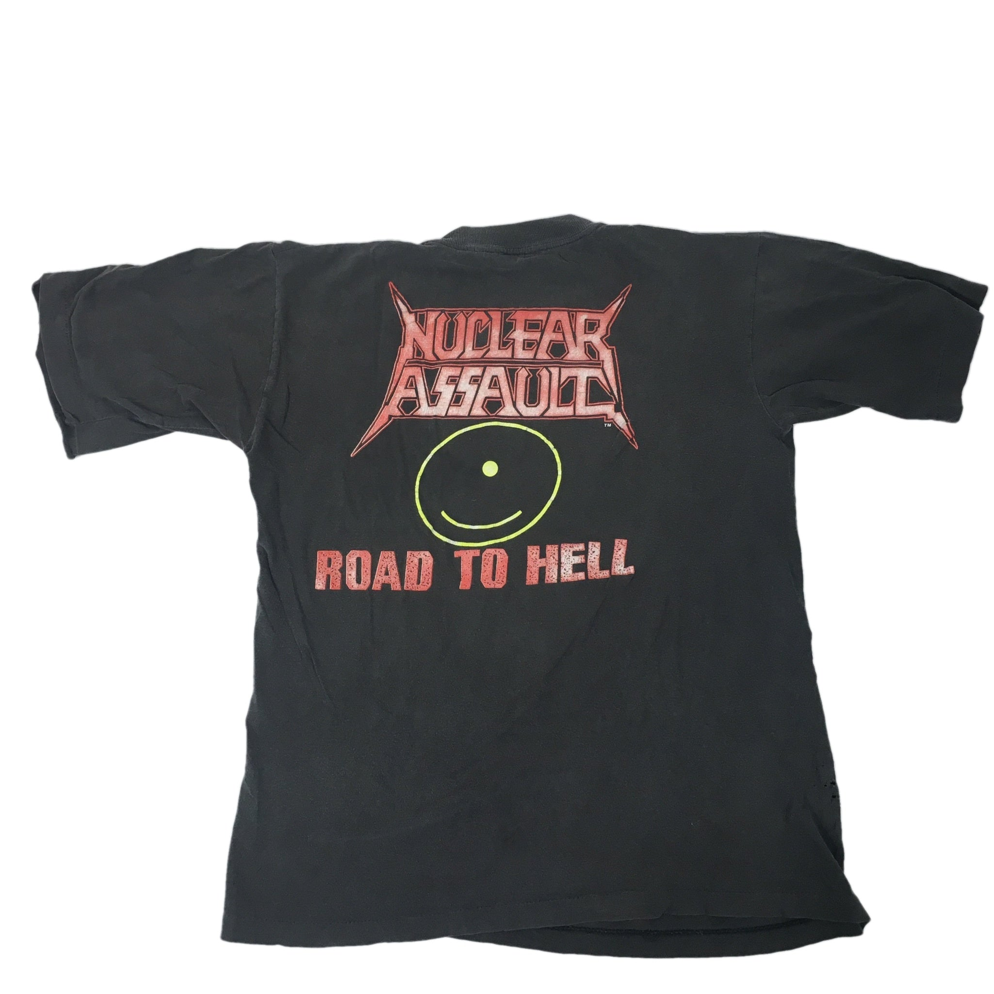 "Vintage Nuclear Assault ""Road To Hell"" T-shirt 1989"