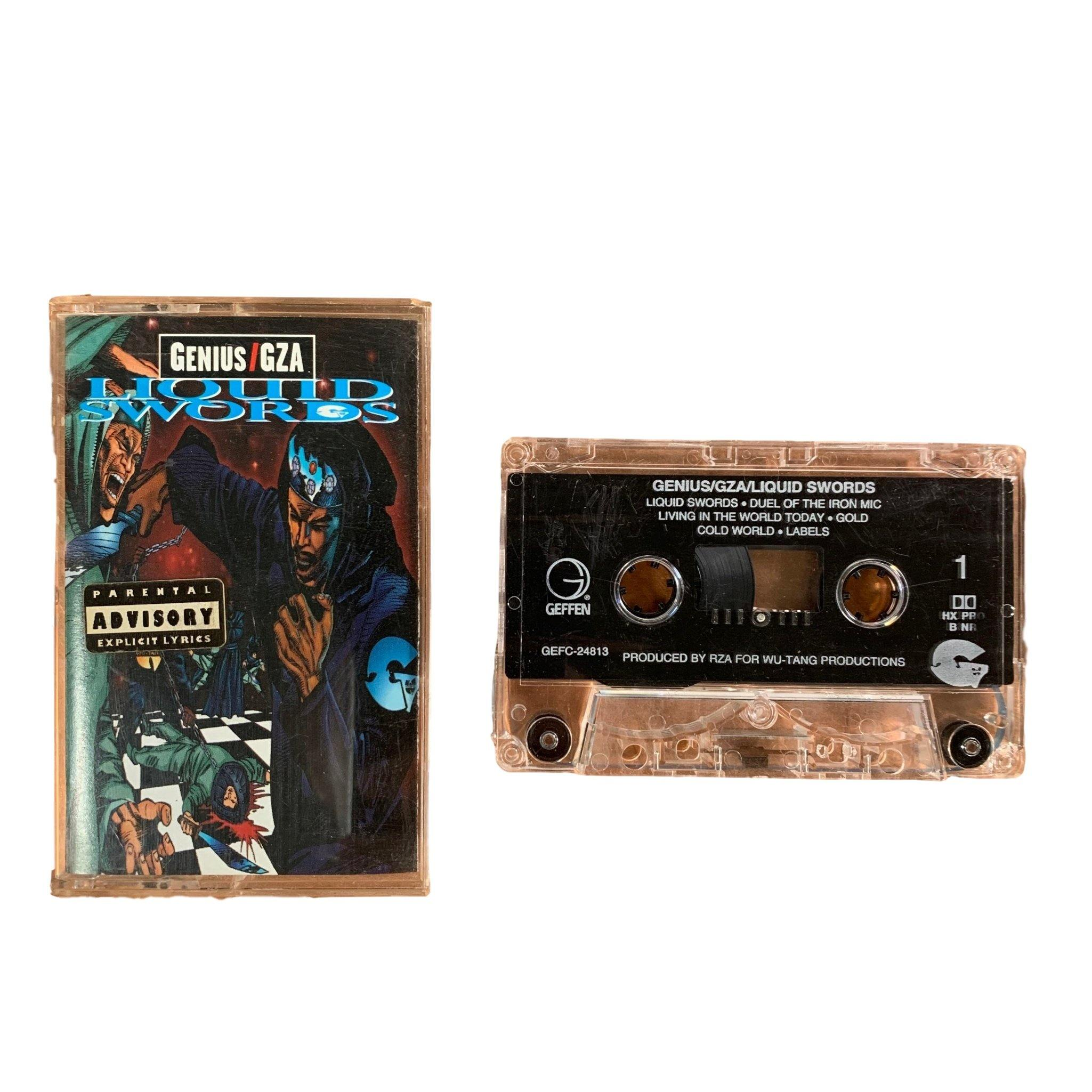 "Vintage Genius/GZA ""Liquid Swords"" Geffen Records Tape"