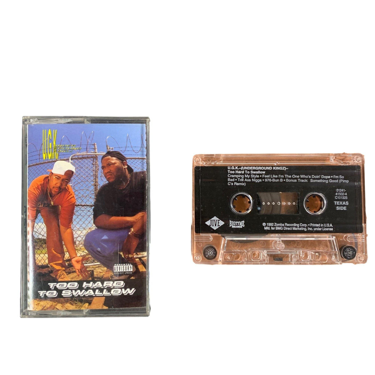 "Vintage UGK ""Too Hard To Swallow"" Bigtyme Recordz Tape - jointcustodydc"