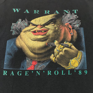 "Vintage Warrant ""Rage N Roll"" T-shirt"