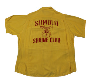 "Vintage Ten Strike By King Louie ""Sumola Shrine Club"" Button-Up Shirt"