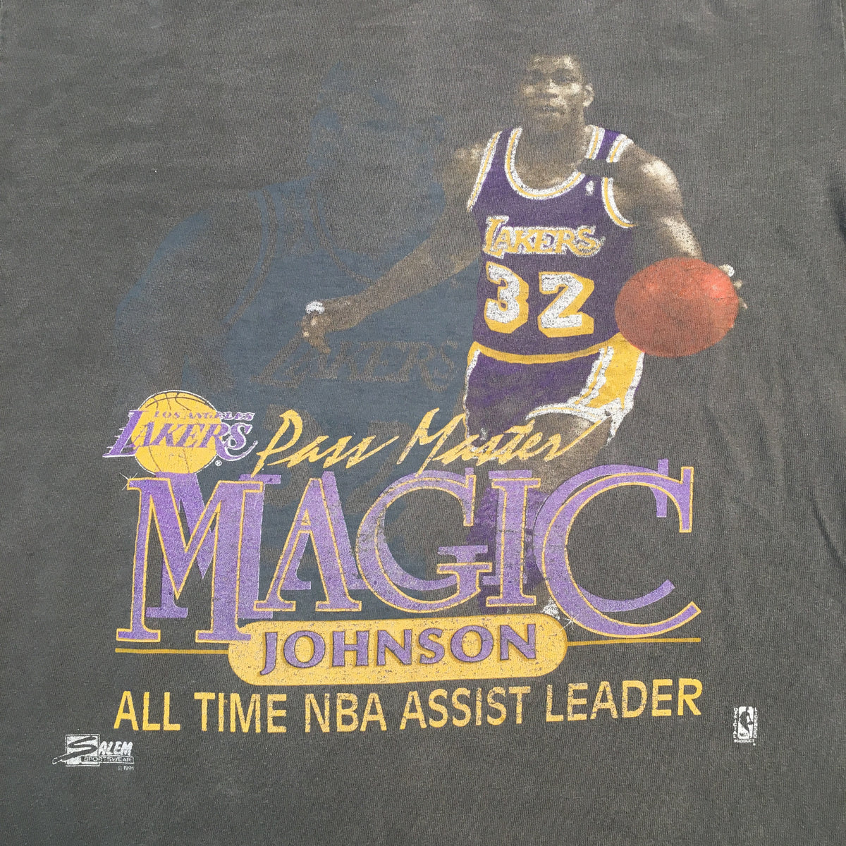 "Vintage Magic Johnson ""Pass Master"" T-Shirt - jointcustodydc"