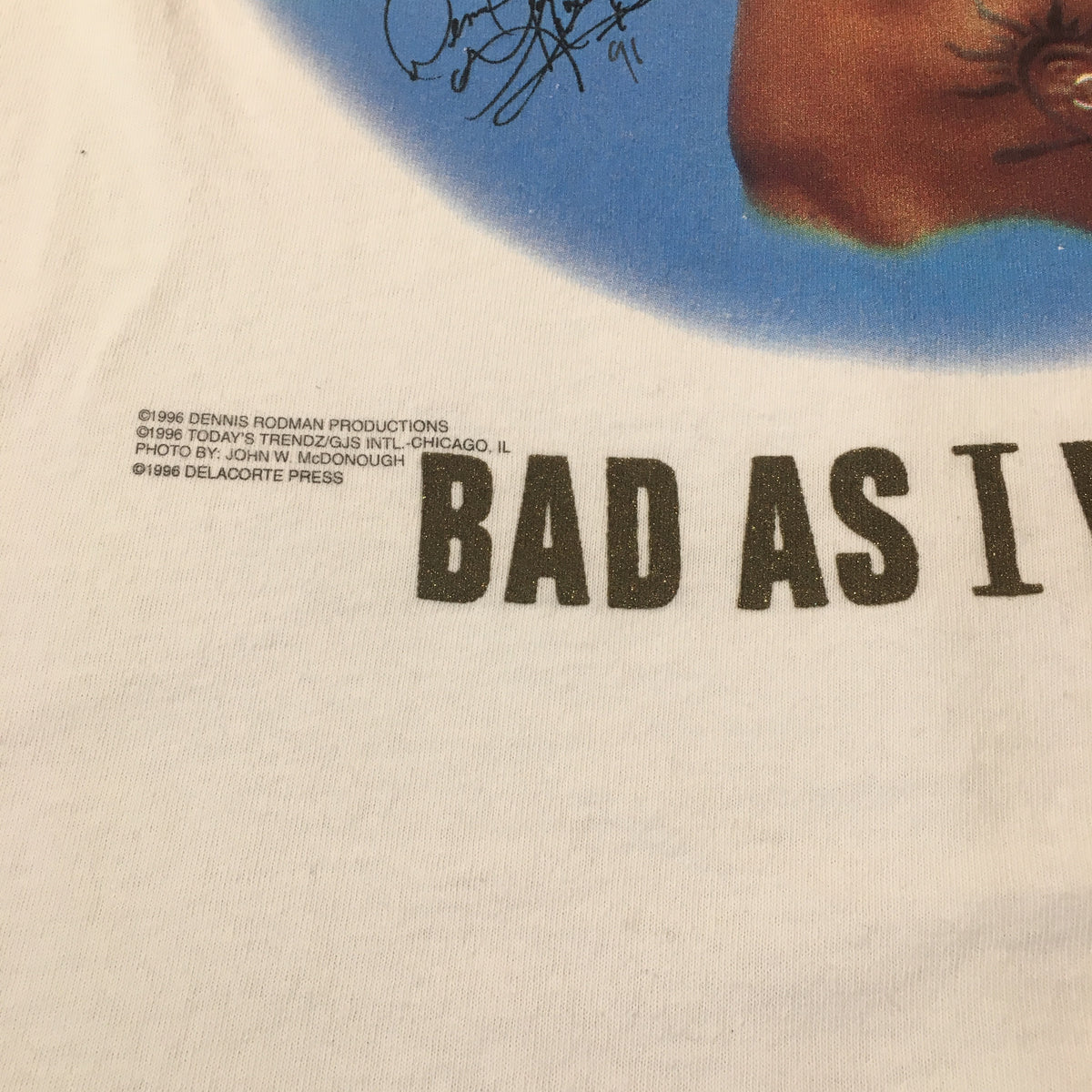 "Vintage Dennis Rodman ""Bad As I Wanna Be"" T-Shirt - jointcustodydc"