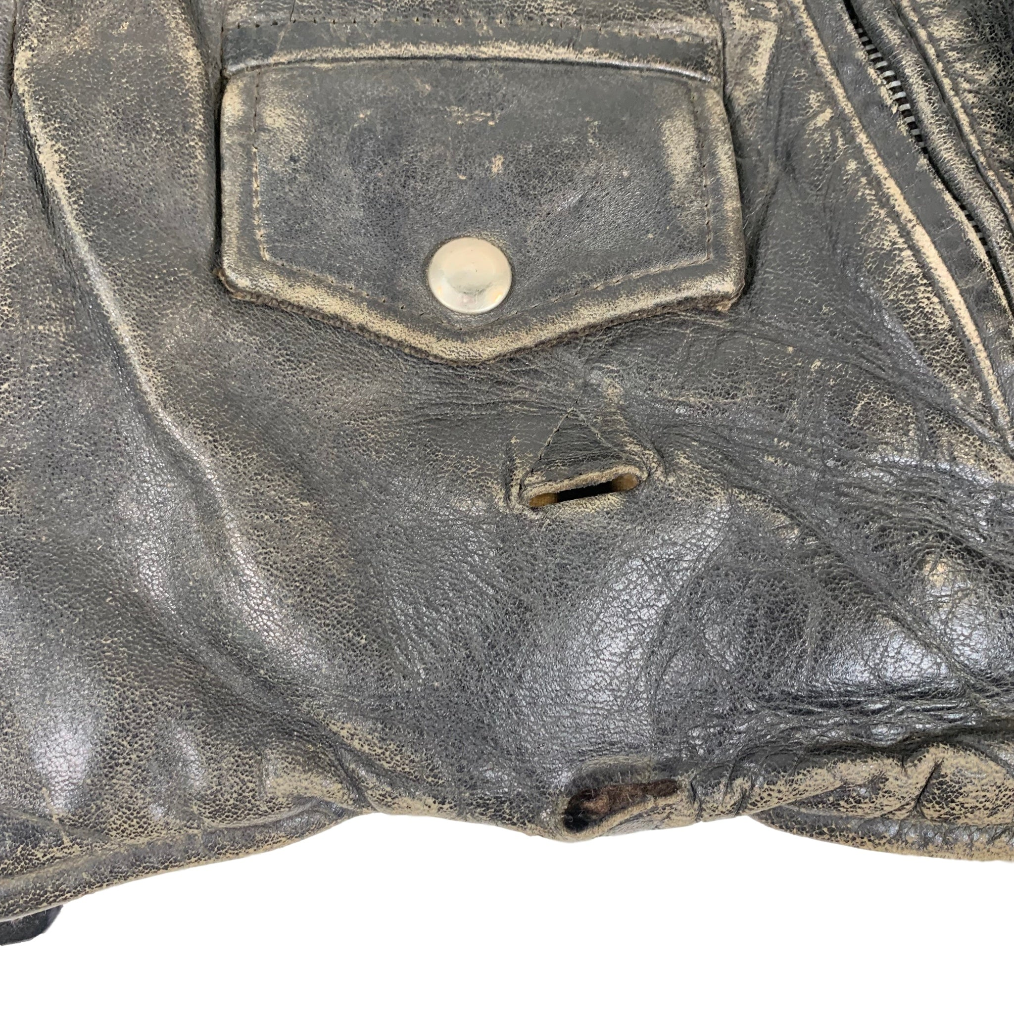 "Vintage Front Quarter ""Horsehide"" Leather Jacket"