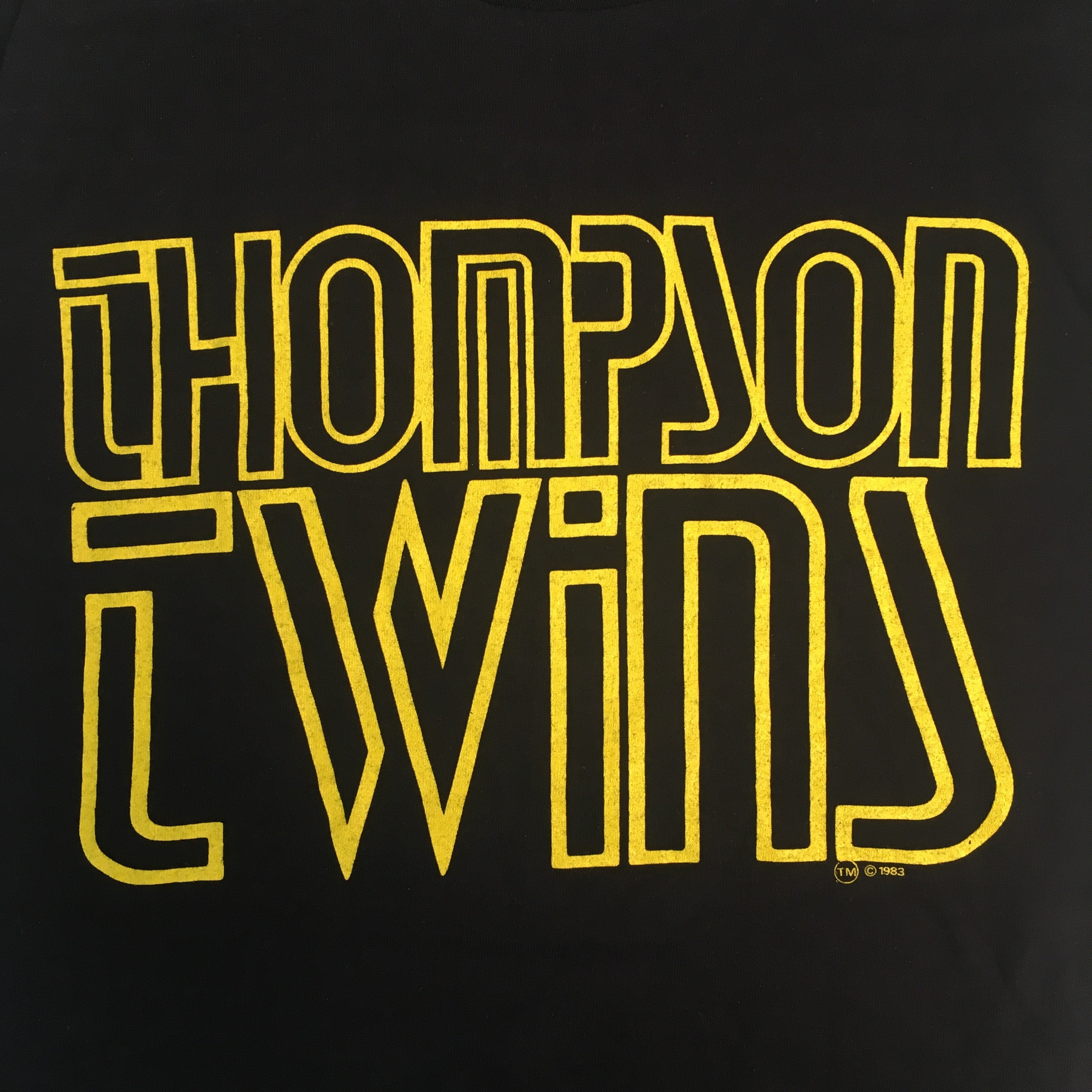 "Vintage Thompson Twins ""Group Outline"" Sleeveless T-Shirt"