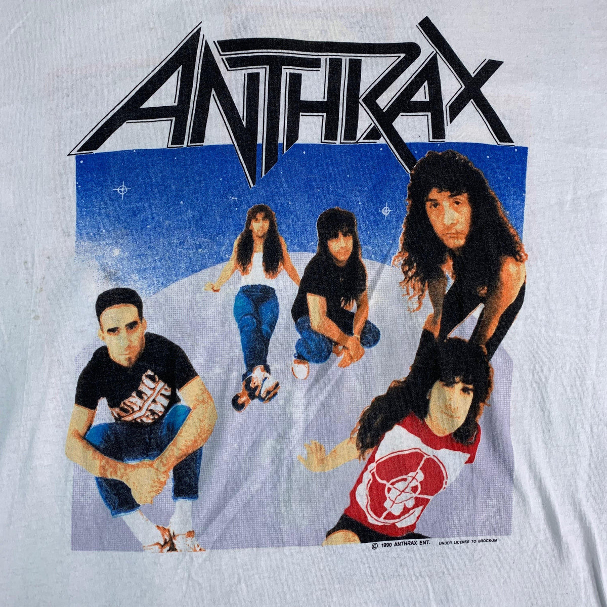 "Vintage Anthrax ""Group Photo"" T-Shirt"