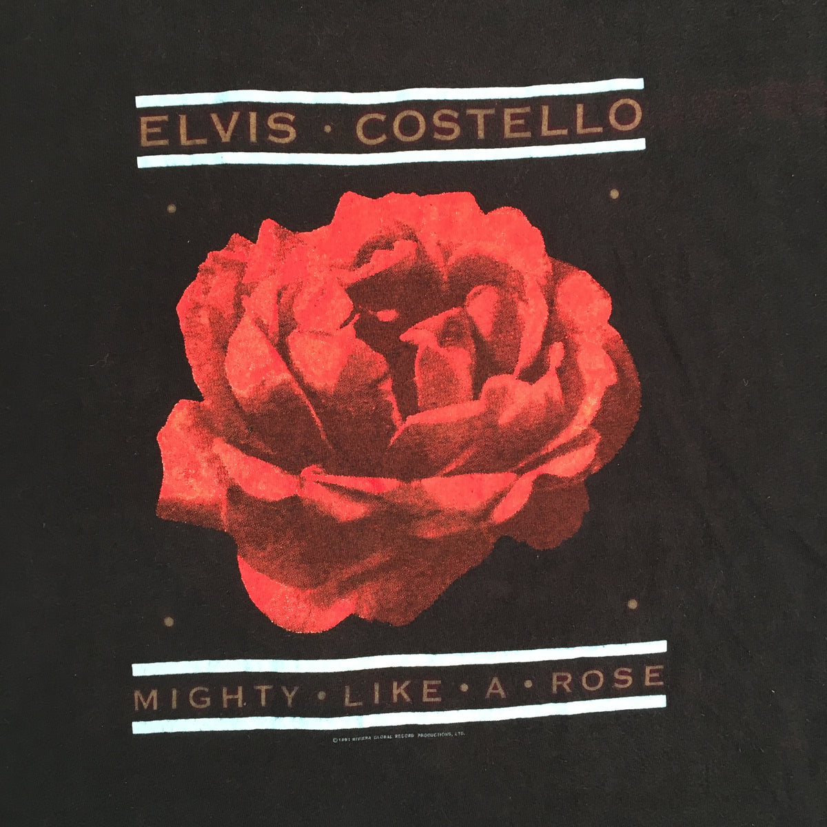 "Vintage Elvis Costello ""Mighty Like A Rose"" T-Shirt"