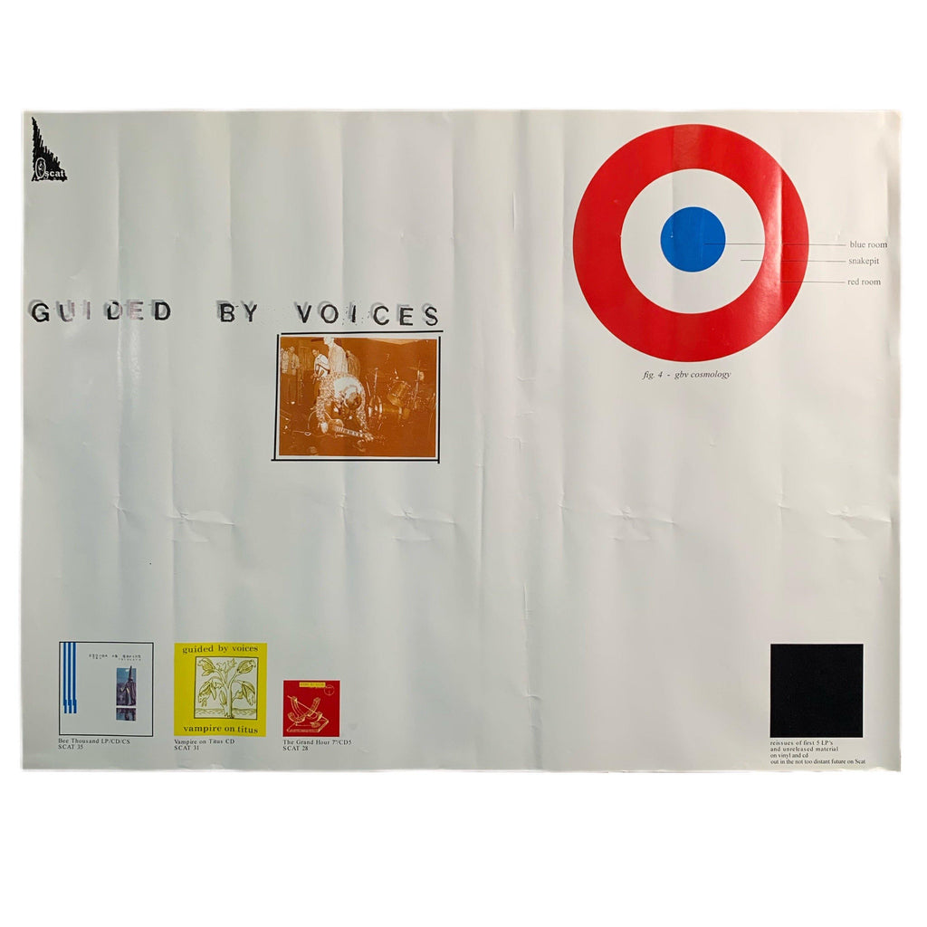 "Vintage Guided By Voices ""Scat Records"" Promo Poster"