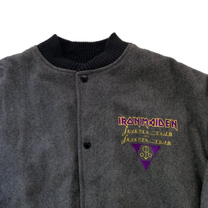 "Vintage Iron Maiden ""Seventh Son"" Wool Varsity Jacket"