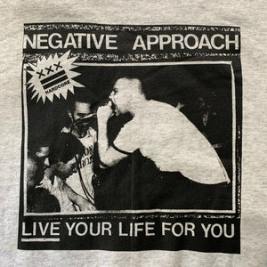 "Vintage Negative Approach ""Live Your Life For You"" Crewneck Sweatshirt"