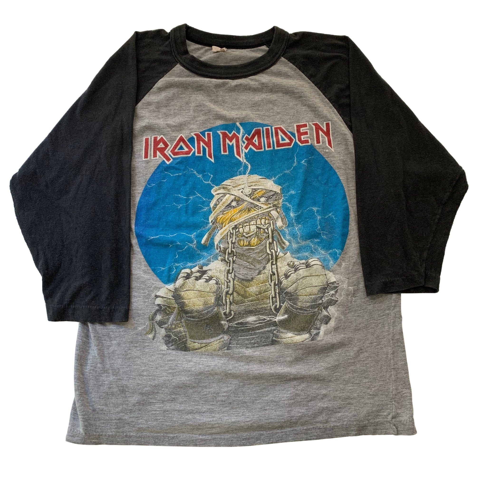 "Vintage Iron Maiden ""World Slavery"" Raglan"