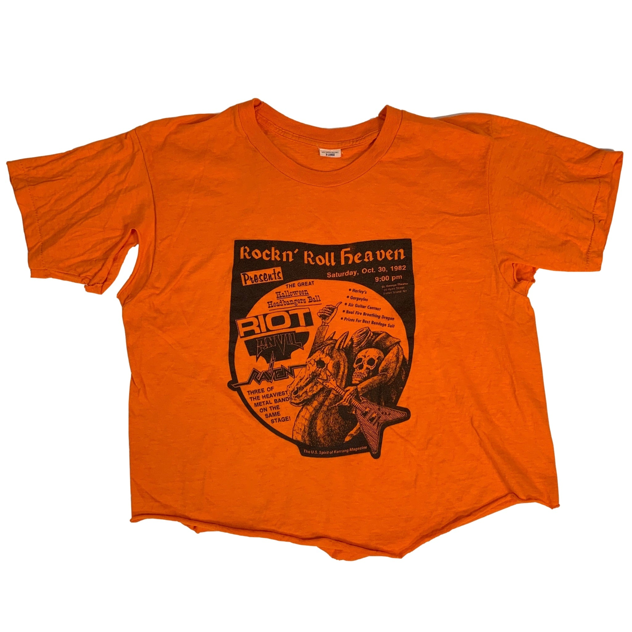 "Vintage Rock N' Roll Heaven ""Halloween Headbangers Ball"" T-Shirt"