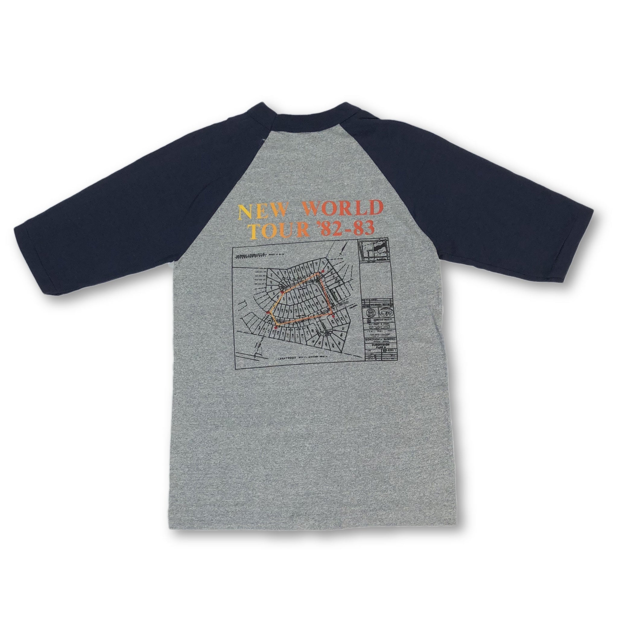 "Vintage Rush ""Signals New World Tour '82-83"" Raglan T-Shirt"