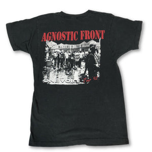 "Vintage Agnostic Front ""One Voice Tour '92"" T-Shirt"