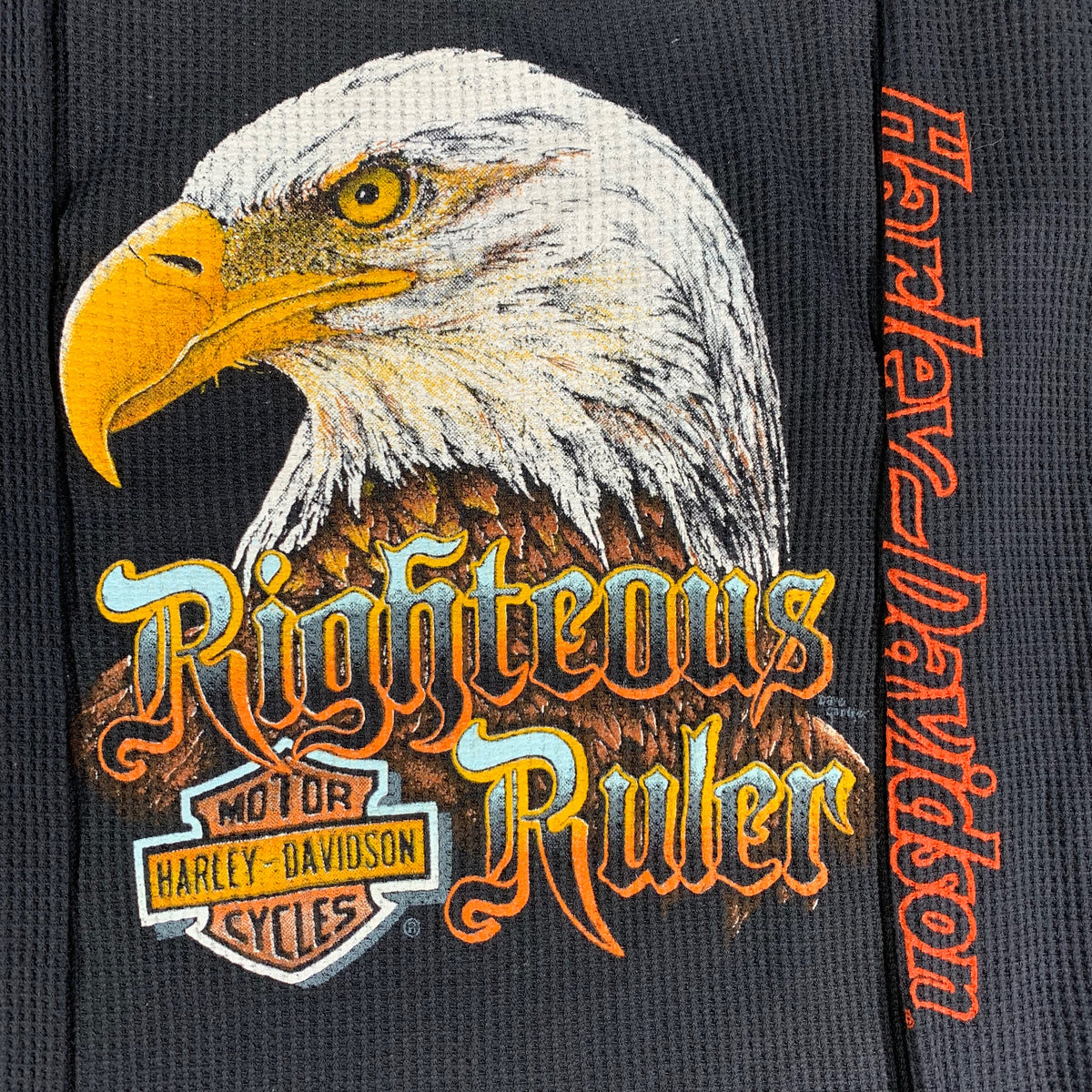 "Vintage Harley-Davidson ""Righteous Ruler"" Thermal Shirt"