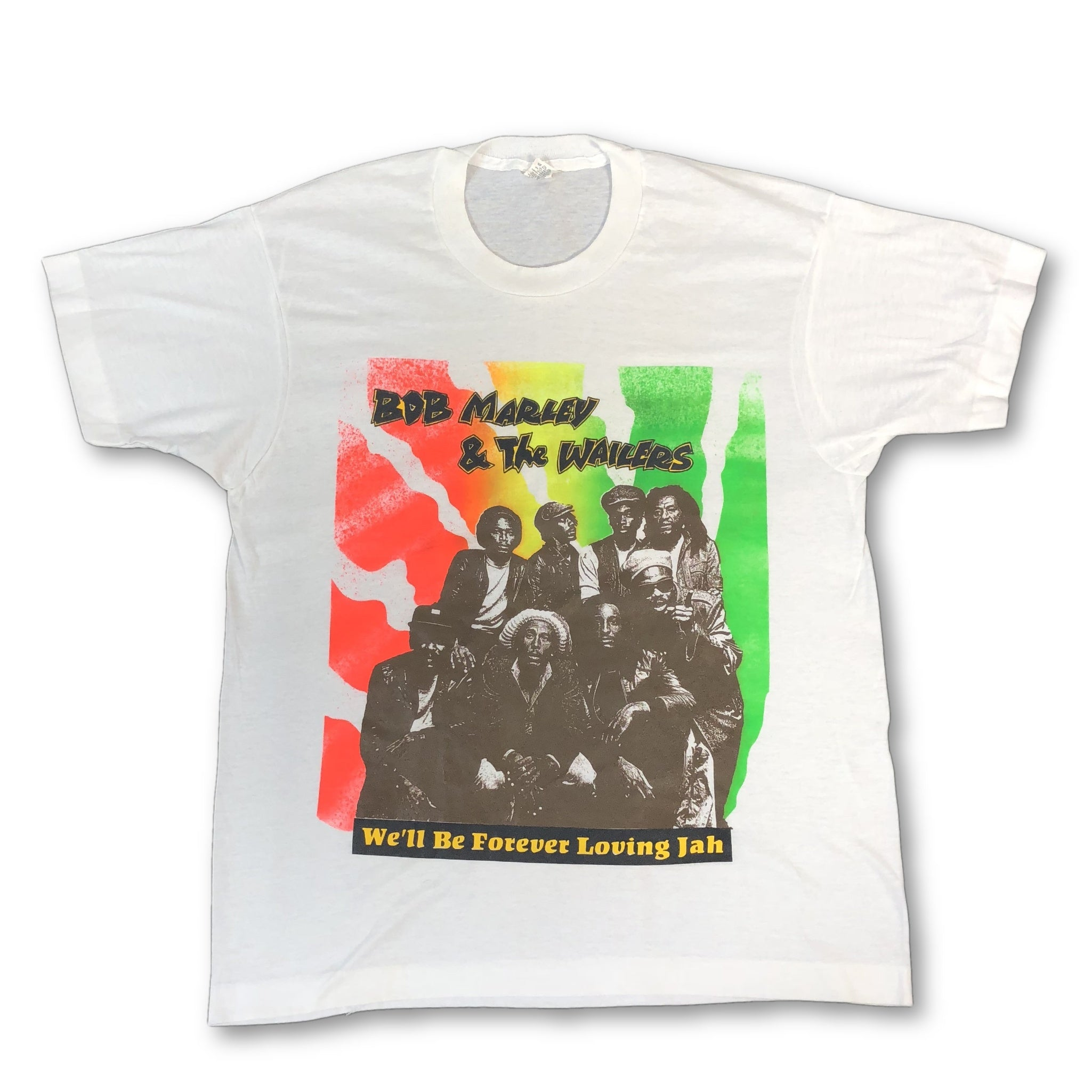 "Vintage Bob Marley & The Wailers  ""We'll Be Forever Loving Jah"" T-Shirt - jointcustodydc"