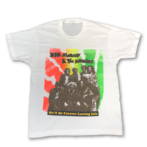 "Vintage Bob Marley & The Wailers  ""We'll Be Forever Loving Jah"" T-Shirt"