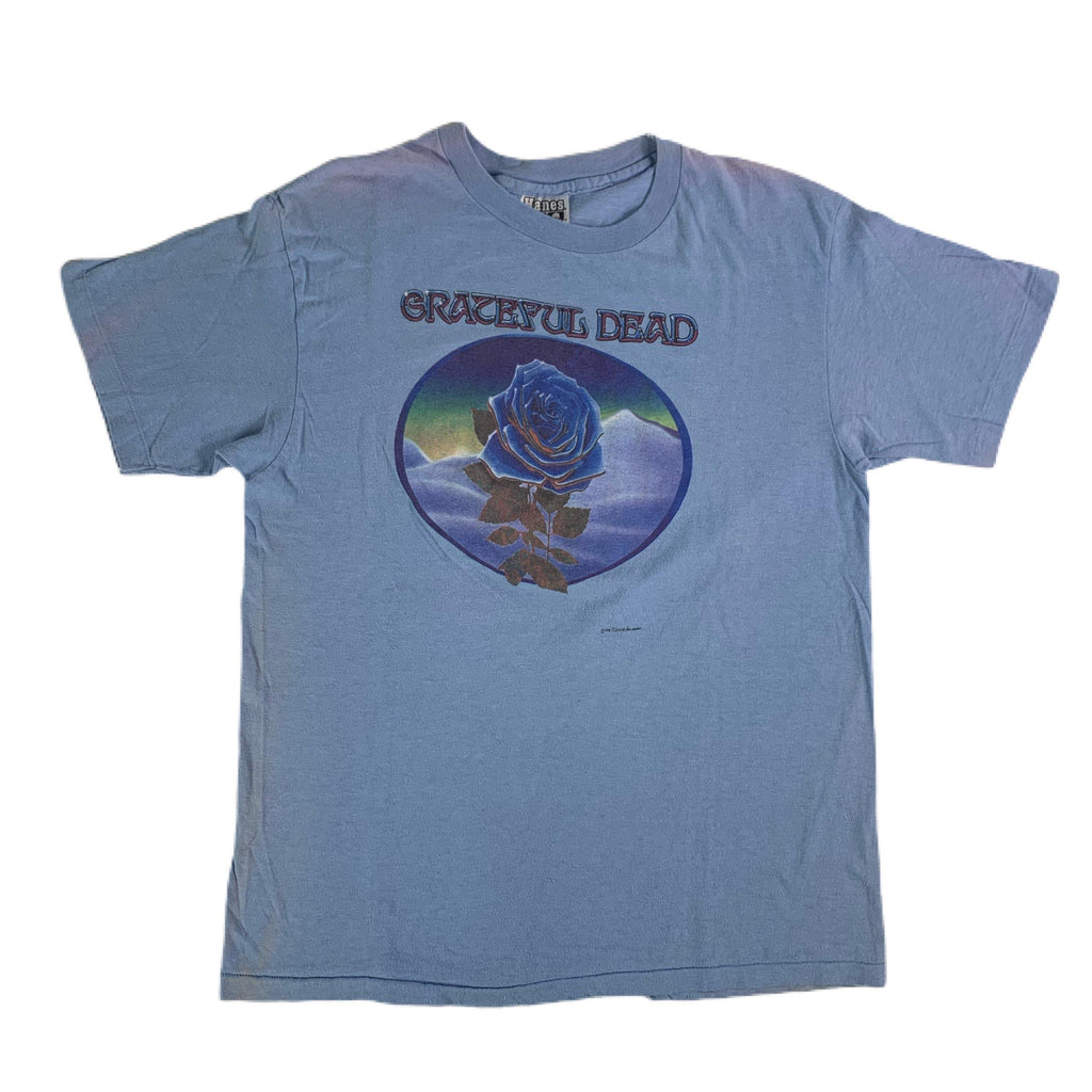 "Vintage Grateful Dead ""Kelley/Mouse"" Blue Rose T-Shirt"