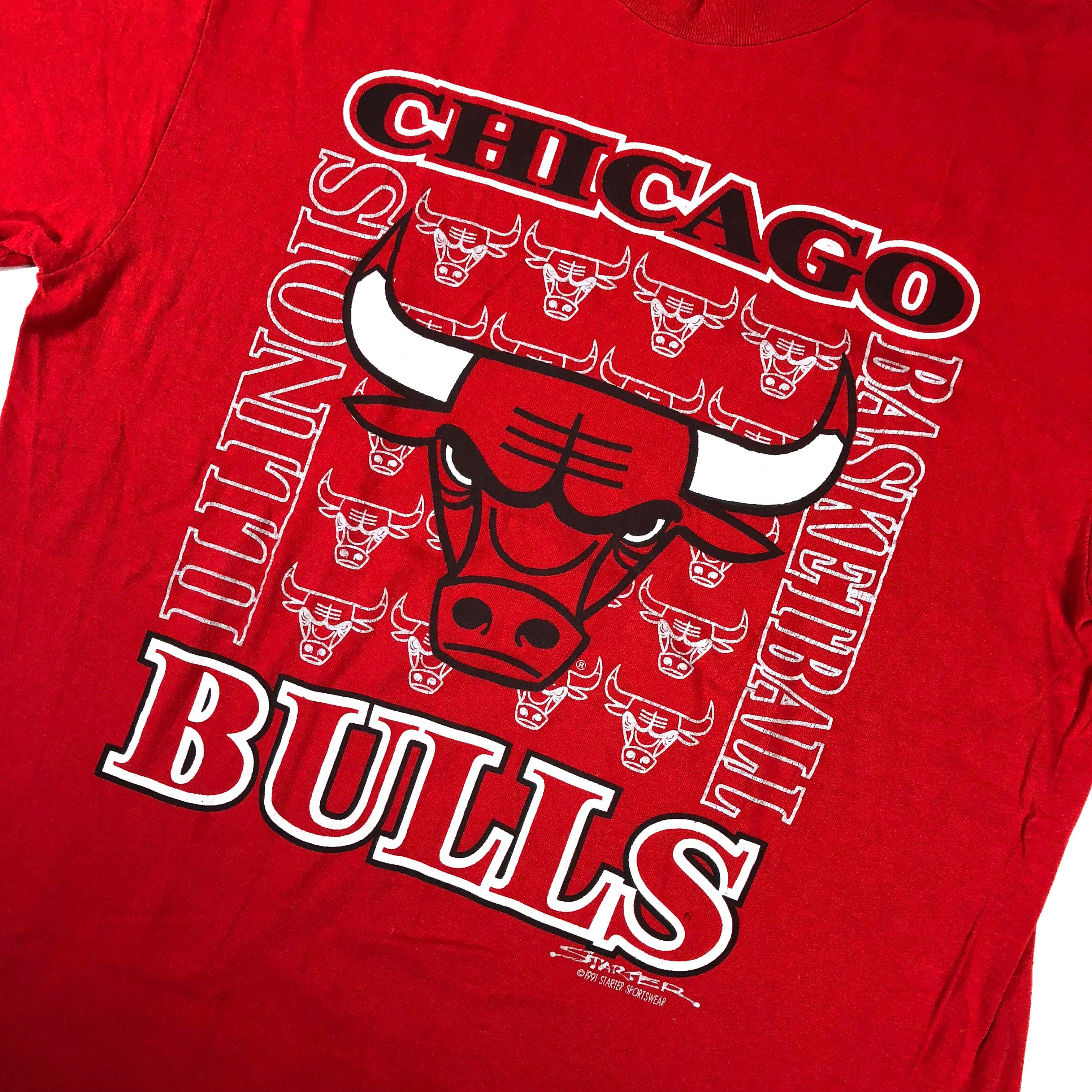 "Vintage Chicago Bulls ""Illinois Basketball"" Starter T-Shirt"