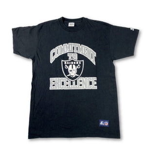"Vintage Oakland Raiders ""Commitment to Excellence"" Starter T-Shirt - jointcustodydc"