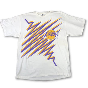 "Vintage Los Angeles Lakers ""Zig Zag"" Starter T-Shirt"