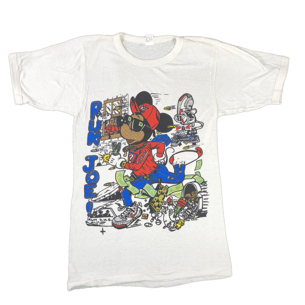 "Vintage Mickey Mouse Bootleg ""Run Joe!"" T-Shirt"